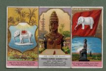 Collectible SIAM cigarette cards  old flag White Elephant RARE #365